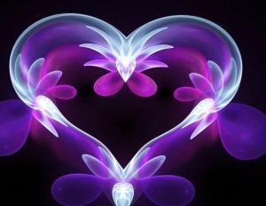 groovy flower light heart