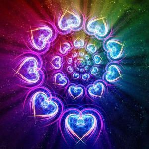 heart rainbow spiral
